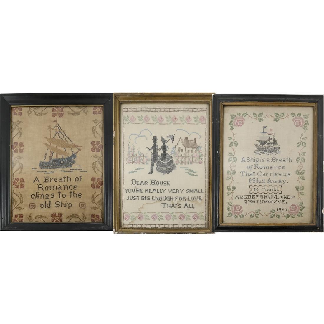 Three Antique Samplers