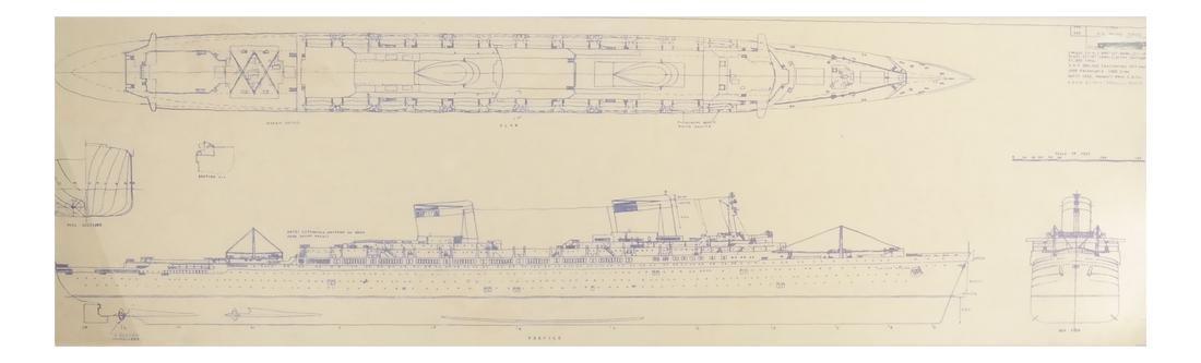 Two Framed Ship Plans Prints - 3