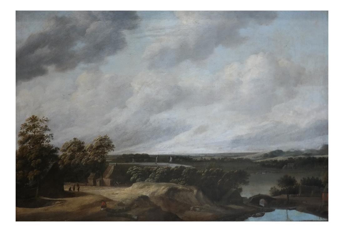 Philip De Koninck - Panoramic Landscape - Oil on Canvas
