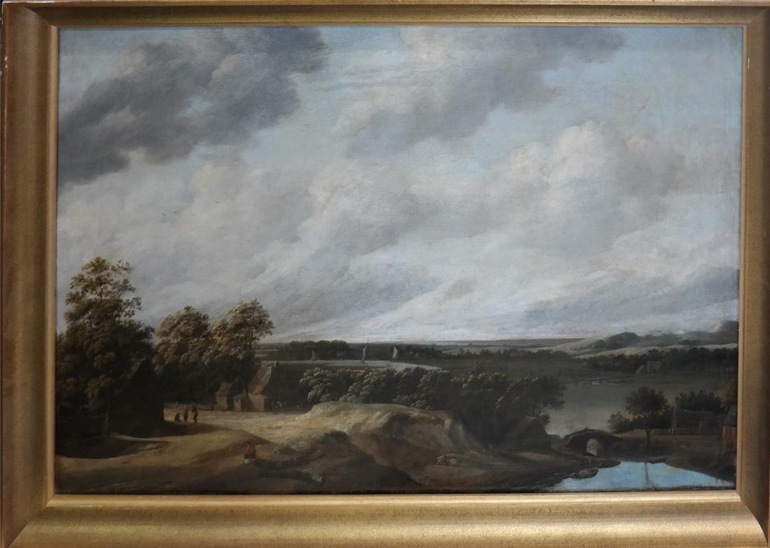 Philip De Koninck - Panoramic Landscape - Oil on Canvas - 2