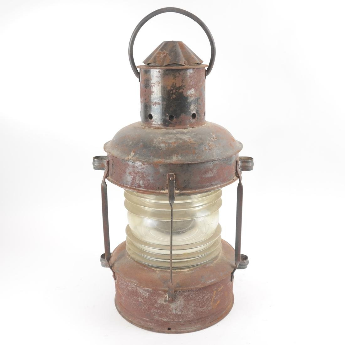 Early 20th Century Tin, Iron and Glass Lantern