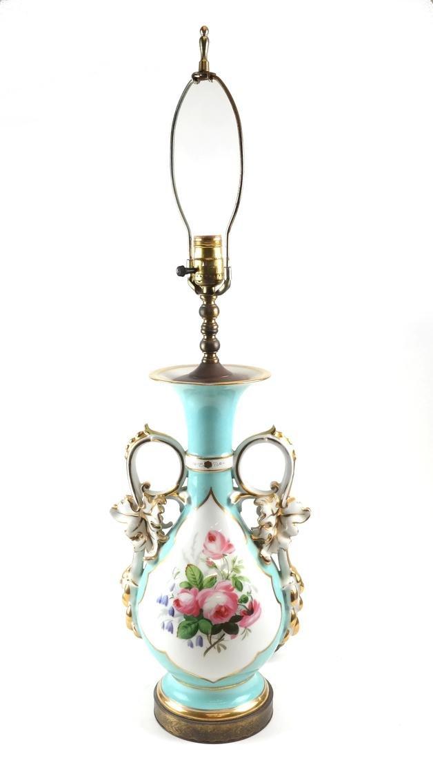 Paris Porcelain Decorated Lamp