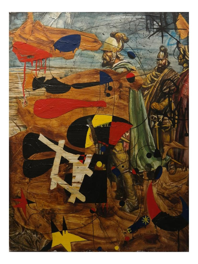 Attributed to Robert Kitoh - Conquistadors - Oil/Canvas