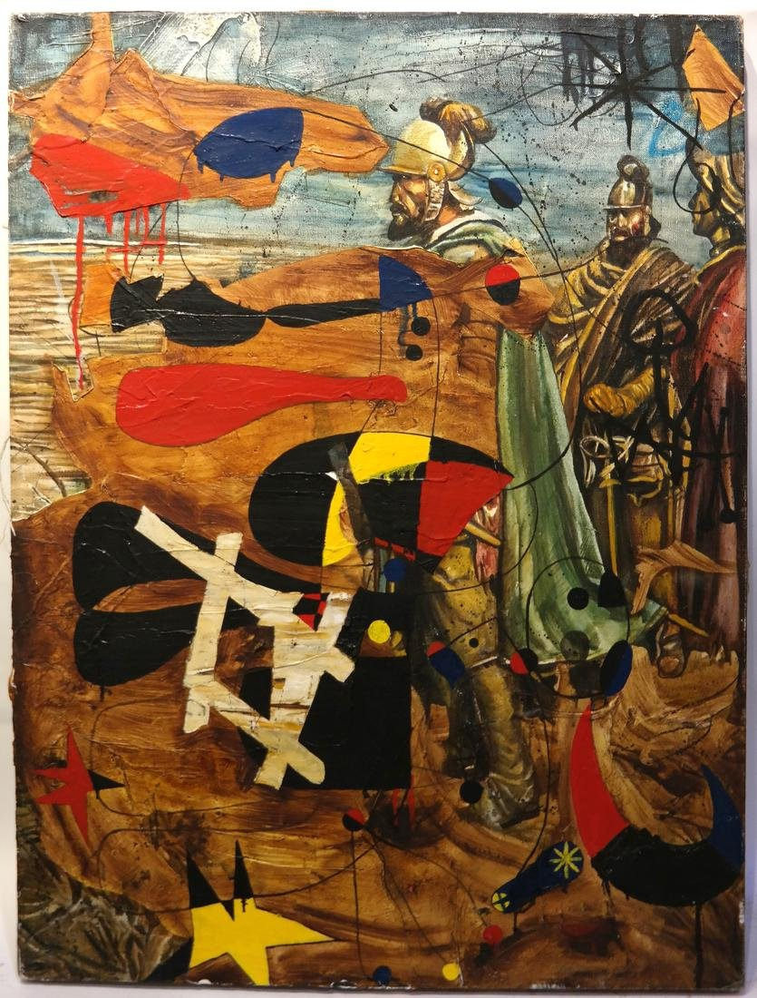 Attributed to Robert Kitchen - Conquistadors - O/C - 2