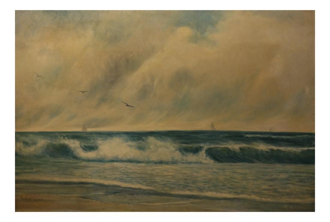 Rafael Sensenyan - Seascape - Oil on Canvas