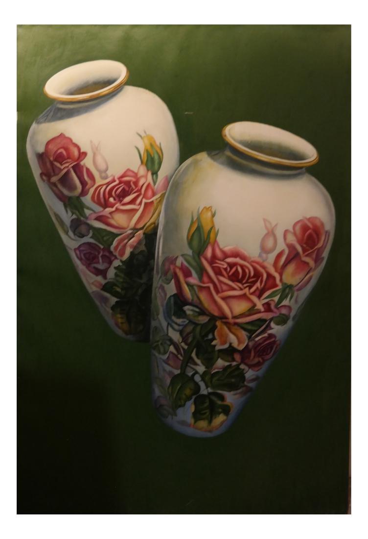 Robert Kitchen Still Life, Vase - Oil on Canvas