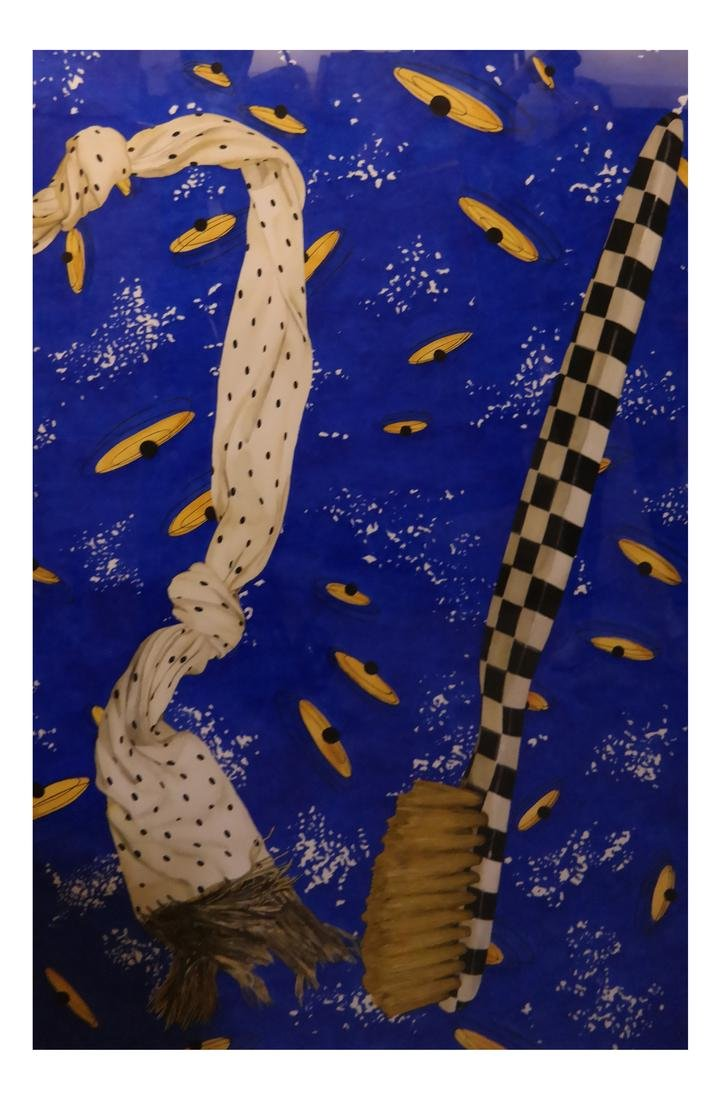 "Robert Kitchen Abstract ""Duel"" 1981 - Watercolor"