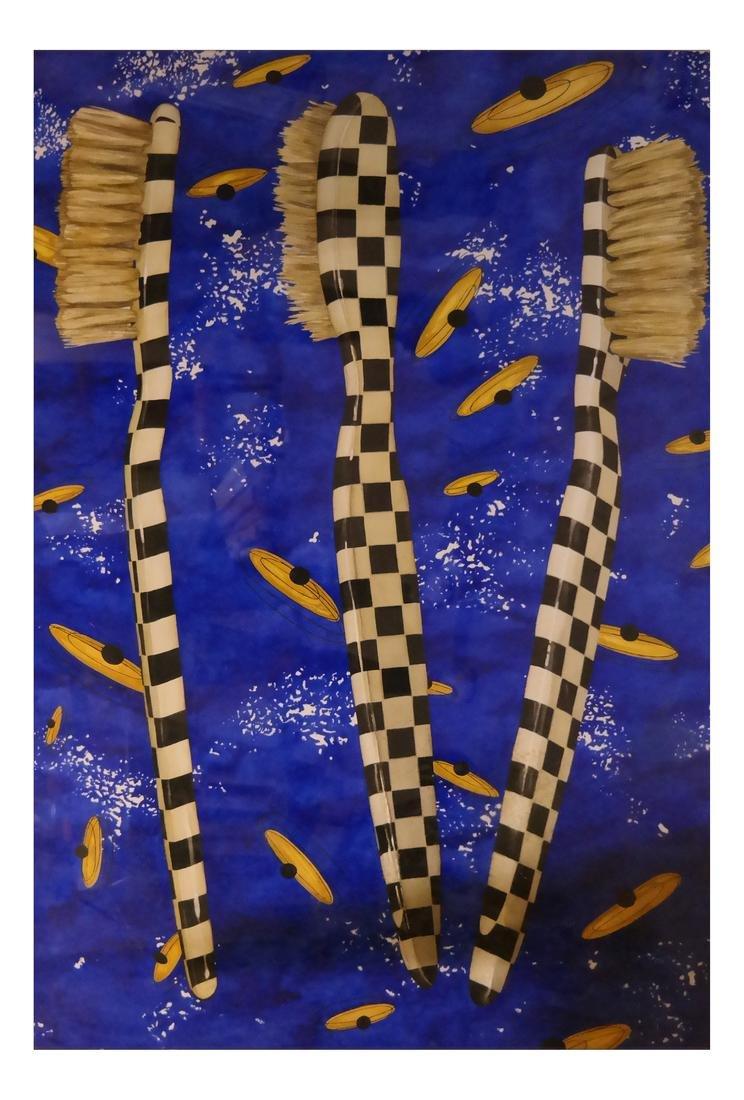 "Robert Kitchen Abstract ""Duel"" Series - Watercolor"
