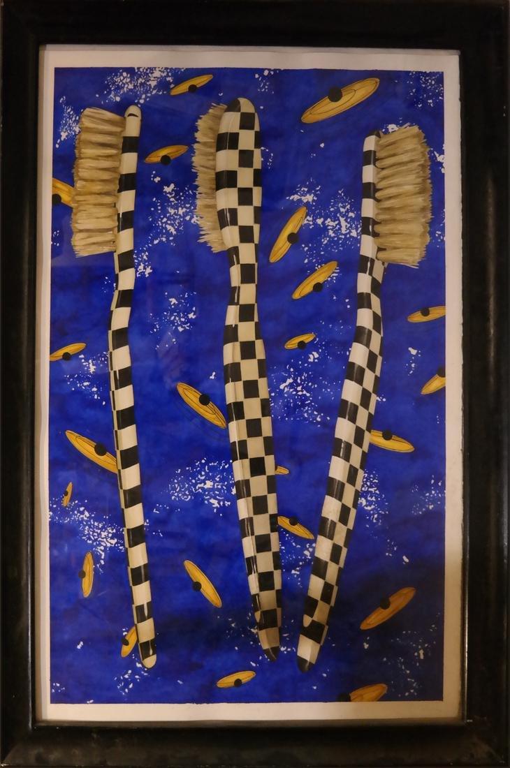 "Robert Kitchen Abstract ""Duel"" Series - Watercolor - 2"