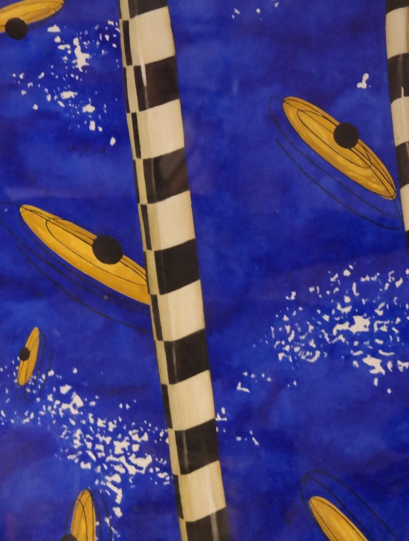 "Robert Kitchen Abstract ""Duel"" Series - Watercolor - 3"