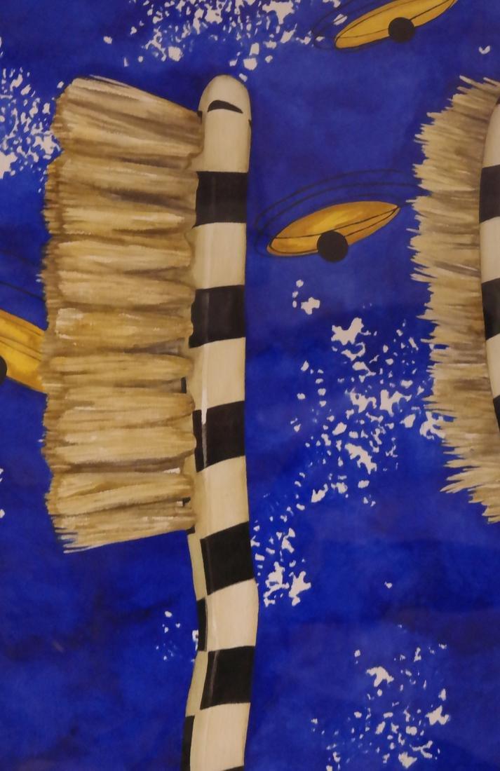 "Robert Kitchen Abstract ""Duel"" Series - Watercolor - 4"