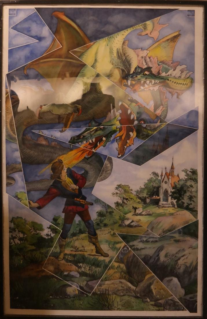 The Dragon Slayer- Watercolor, Unsigned - 2