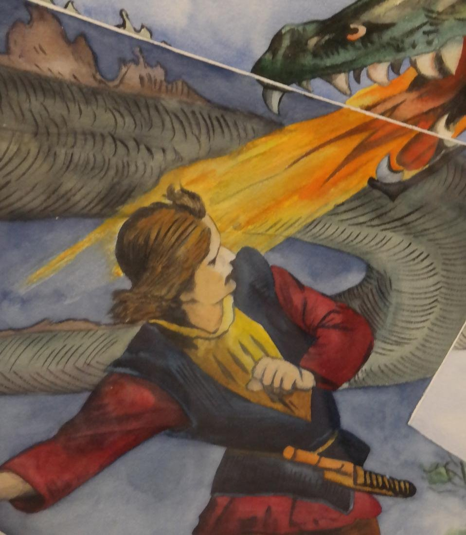 The Dragon Slayer- Watercolor, Unsigned - 6