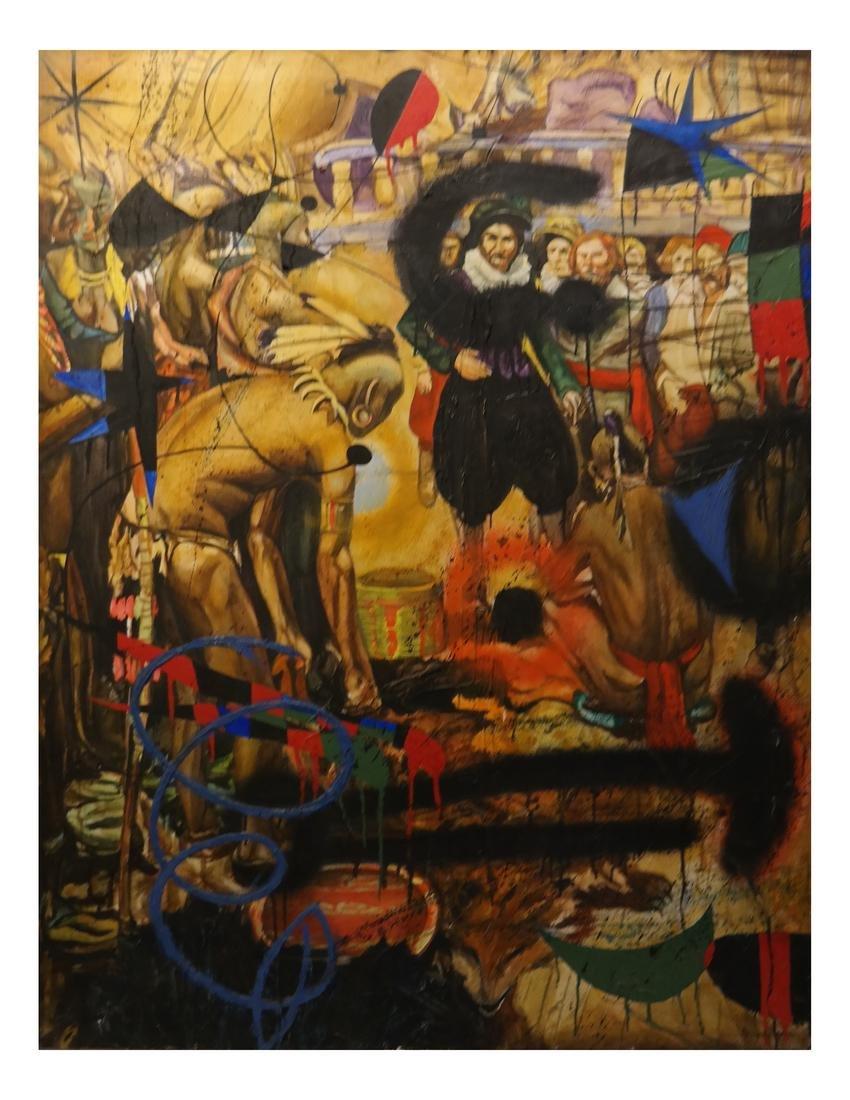 Robert Kitchen, Tradesmen - Oil on Canvas