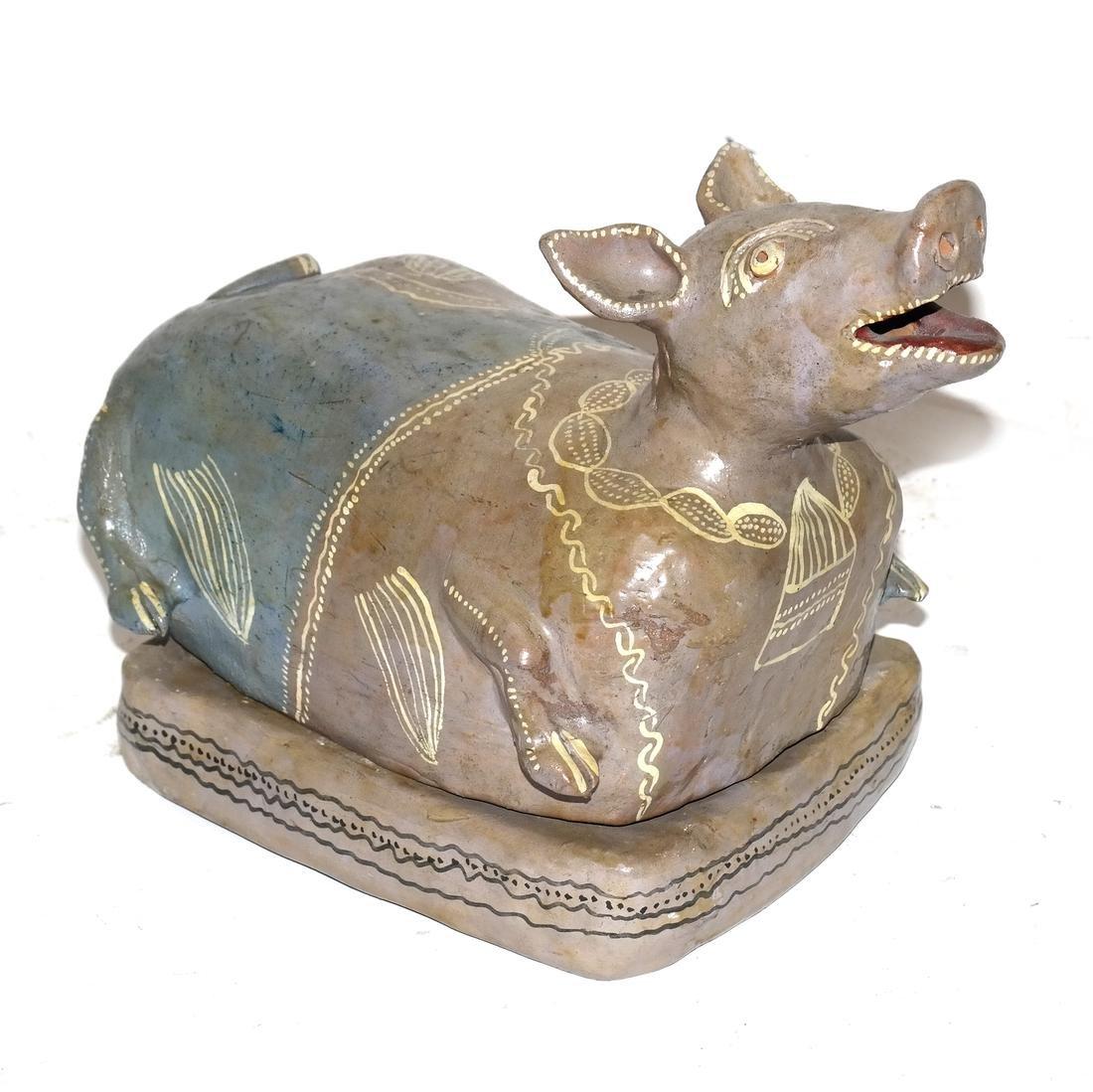 Ceramic Erotica - Cow Centerpiece