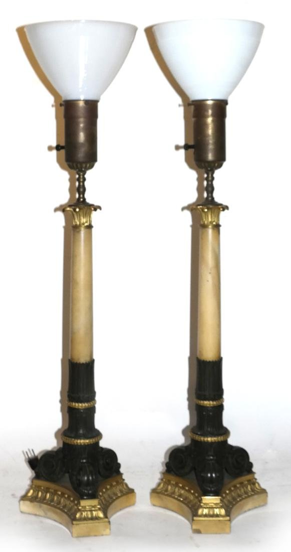 Pair of 19th Century French Empire Lamps