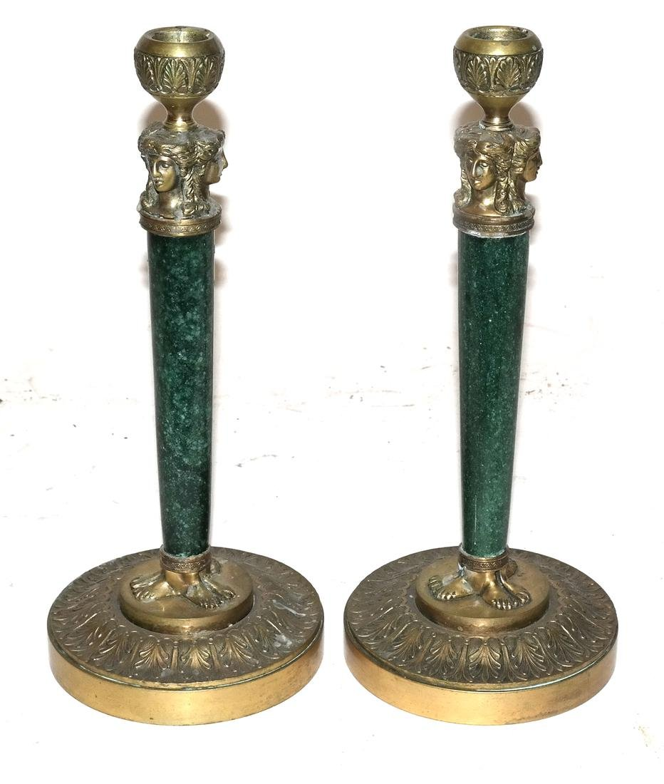 Pair of 19th Century Classical Candlesticks