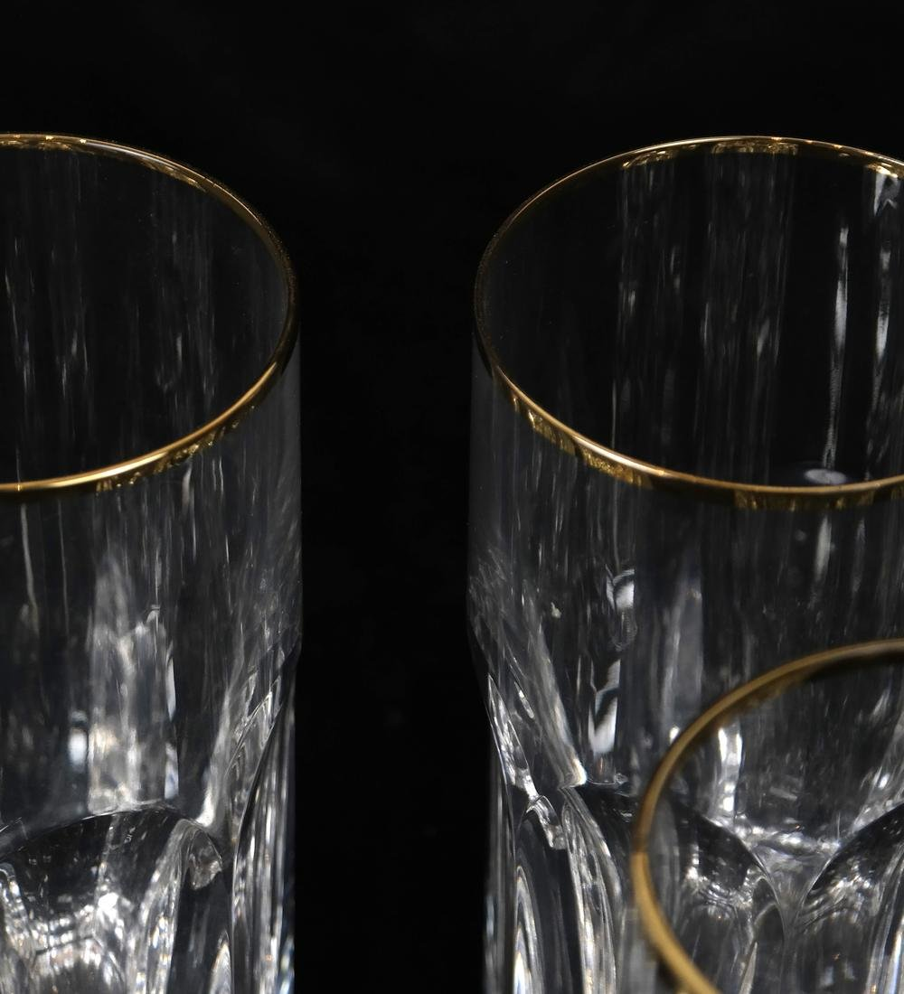 Six Fine Crystal Water Glasses - 2