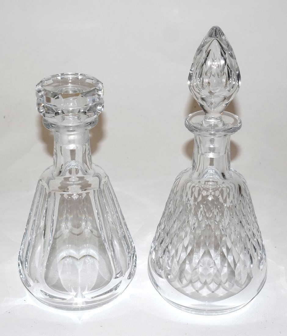 Two Baccarat Glass Decanters