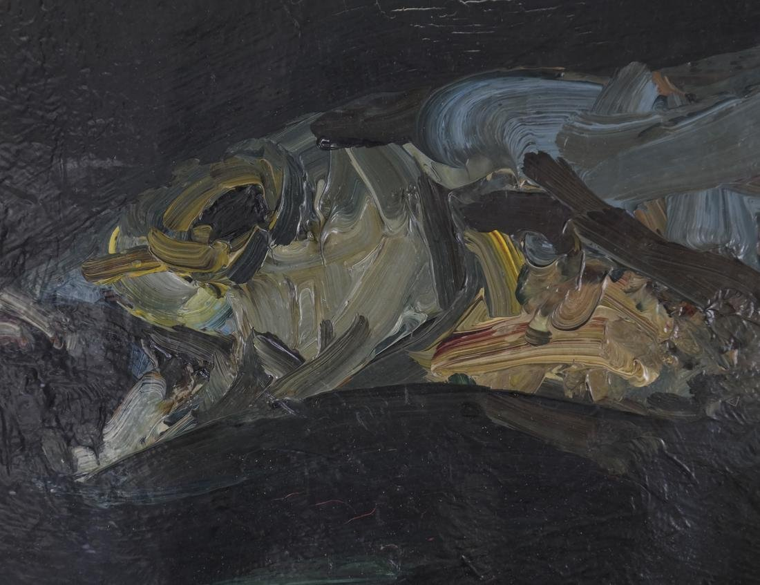"Khmeluk, ""Fish"" - Oil on Canvas - 4"