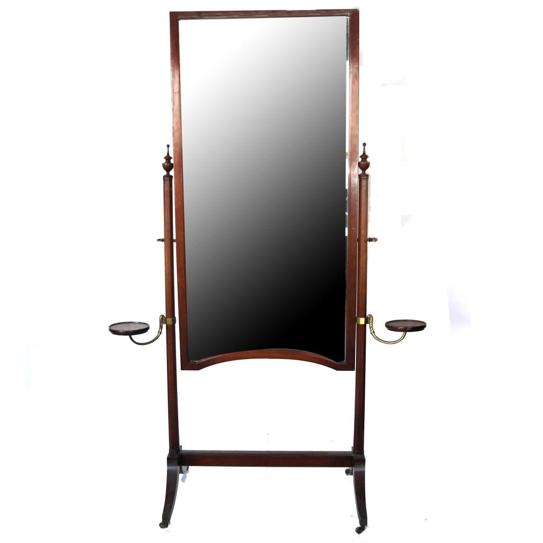 English Sheraton-Style Cheval Mirror