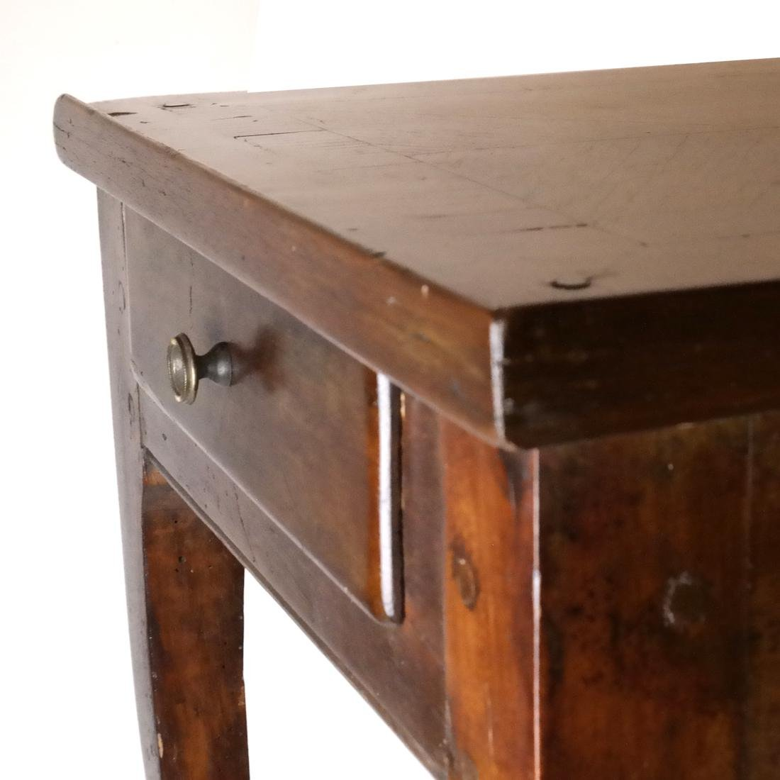 19th C. Continental Single-Drawer Table - 3