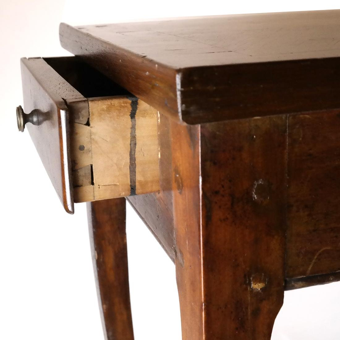 19th C. Continental Single-Drawer Table - 4