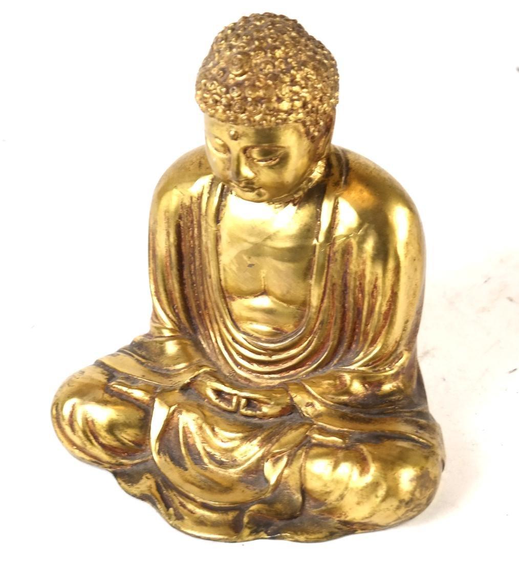 Chinese Gilt Bronze Miniature Buddha