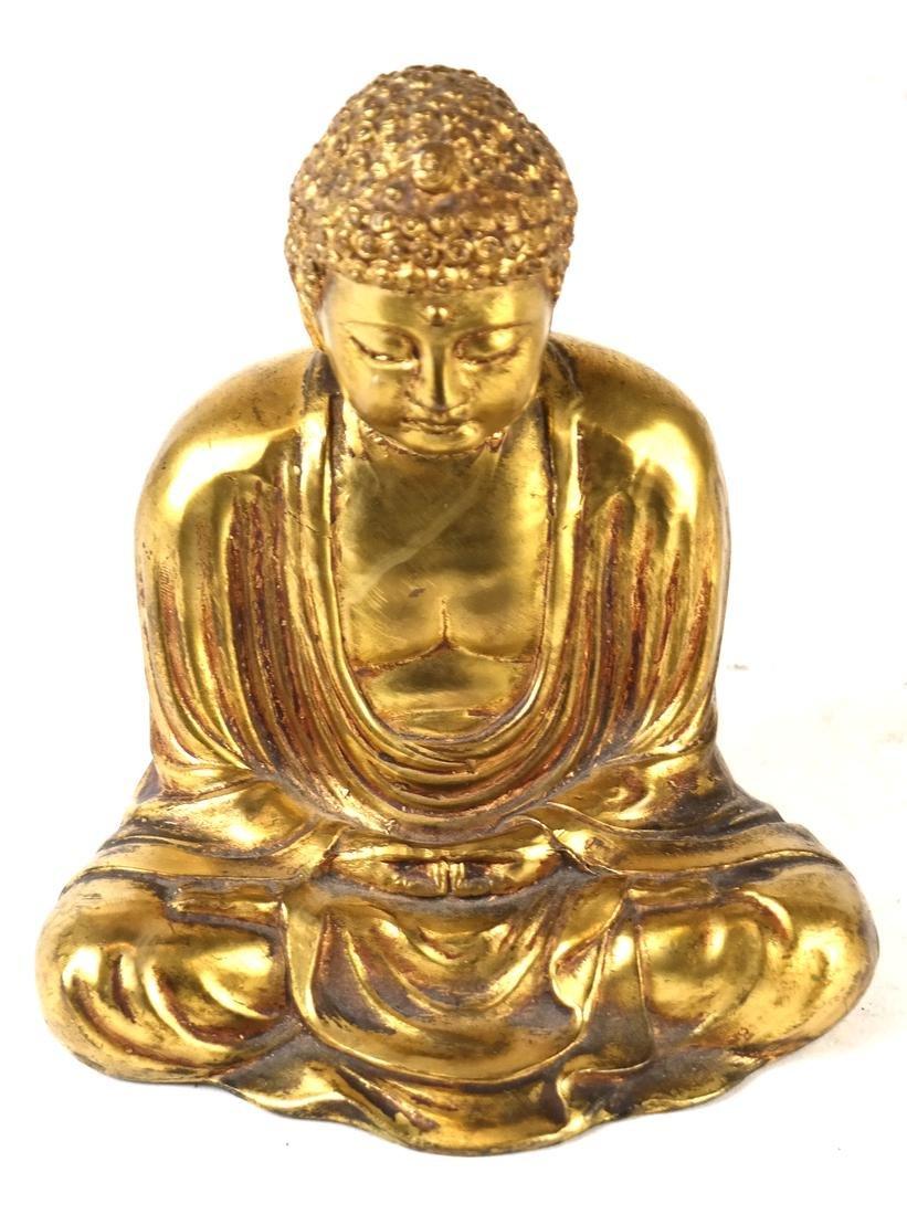 Chinese Gilt Bronze Miniature Buddha - 2