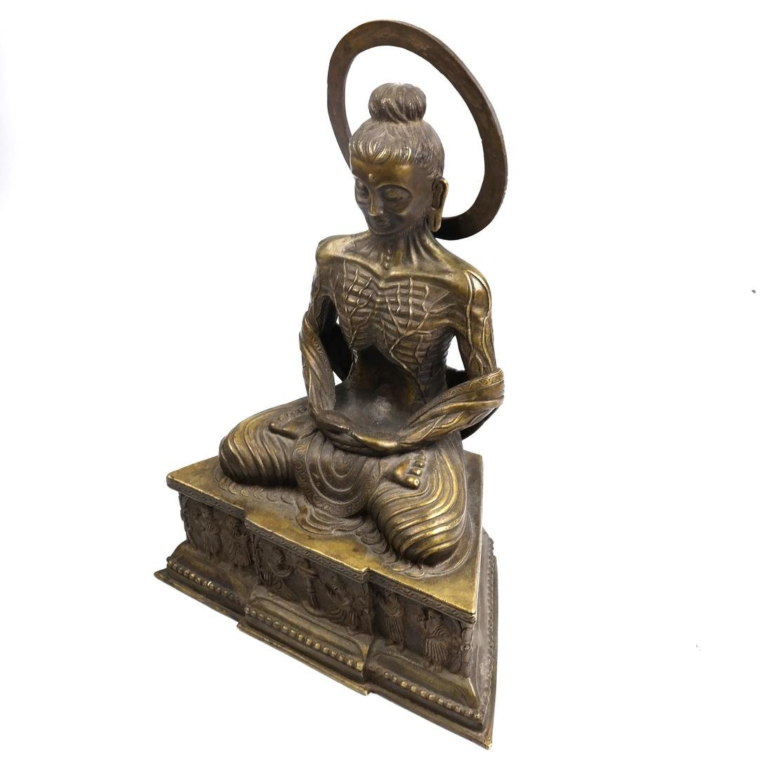 Antique Chinese Buddha with a Halo
