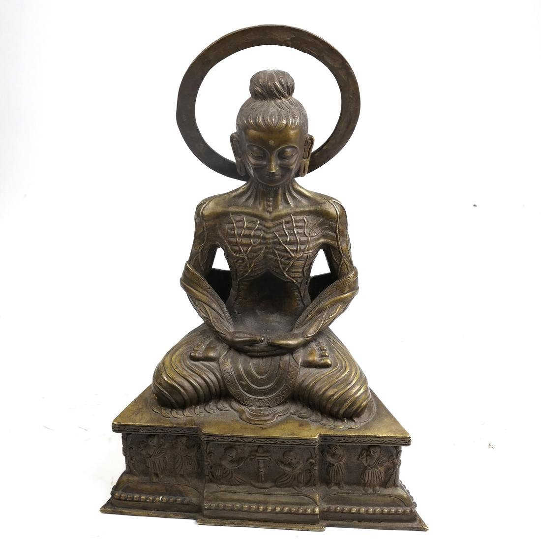 Antique Chinese Buddha with a Halo - 2