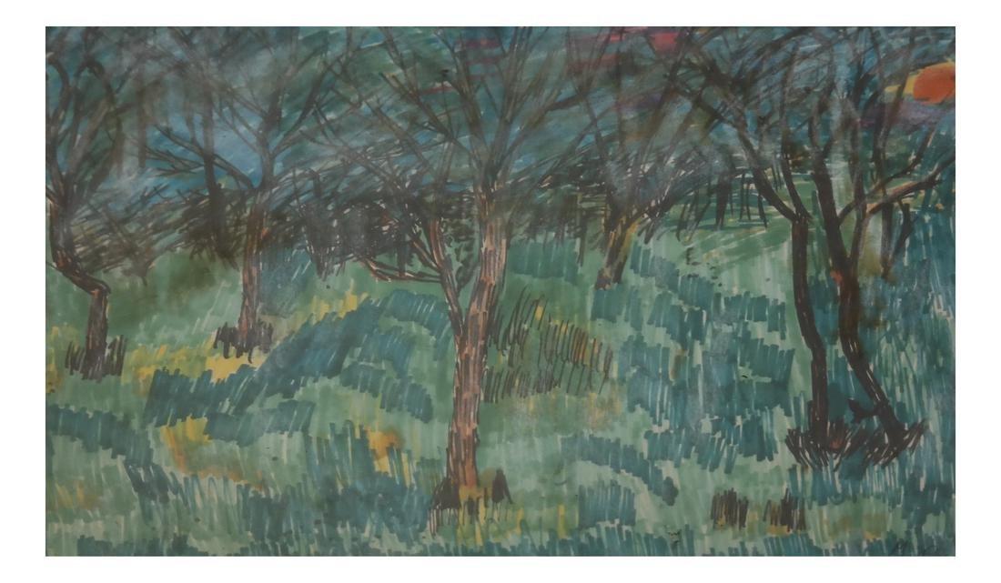 Mary Palatinus, Landscape - Watercolor