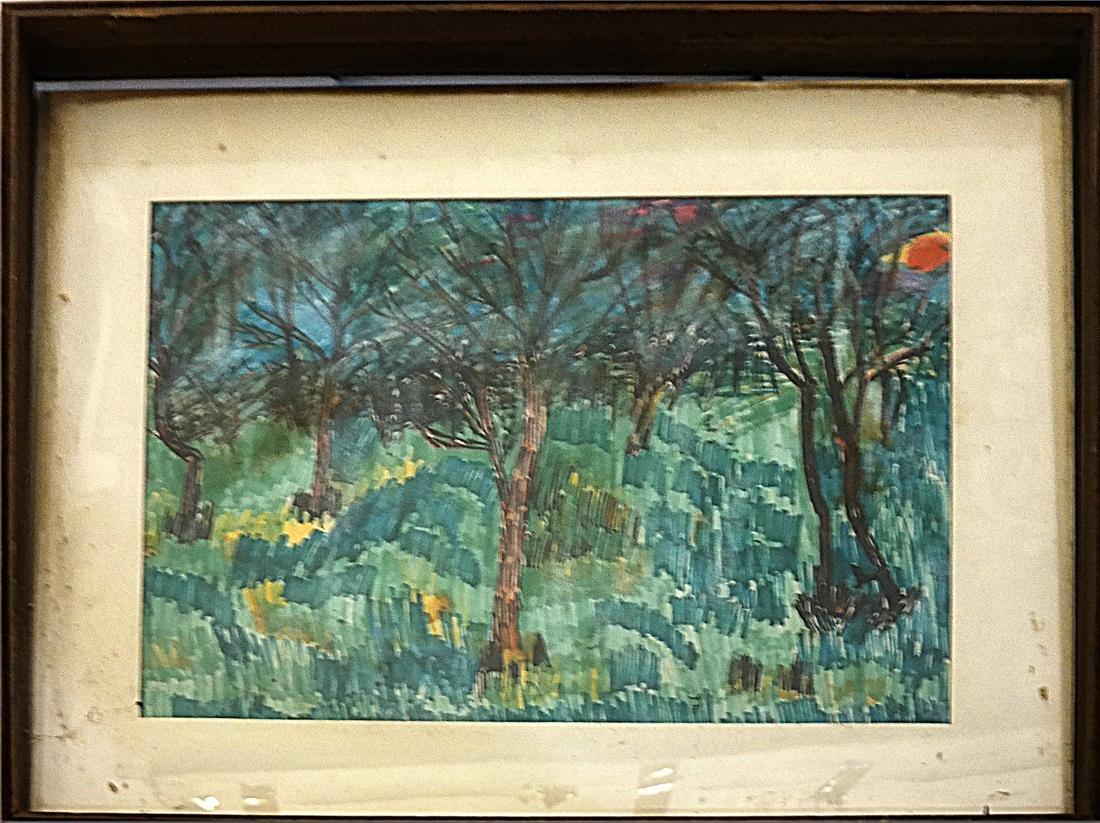 Mary Palatinus, Landscape - Watercolor - 2
