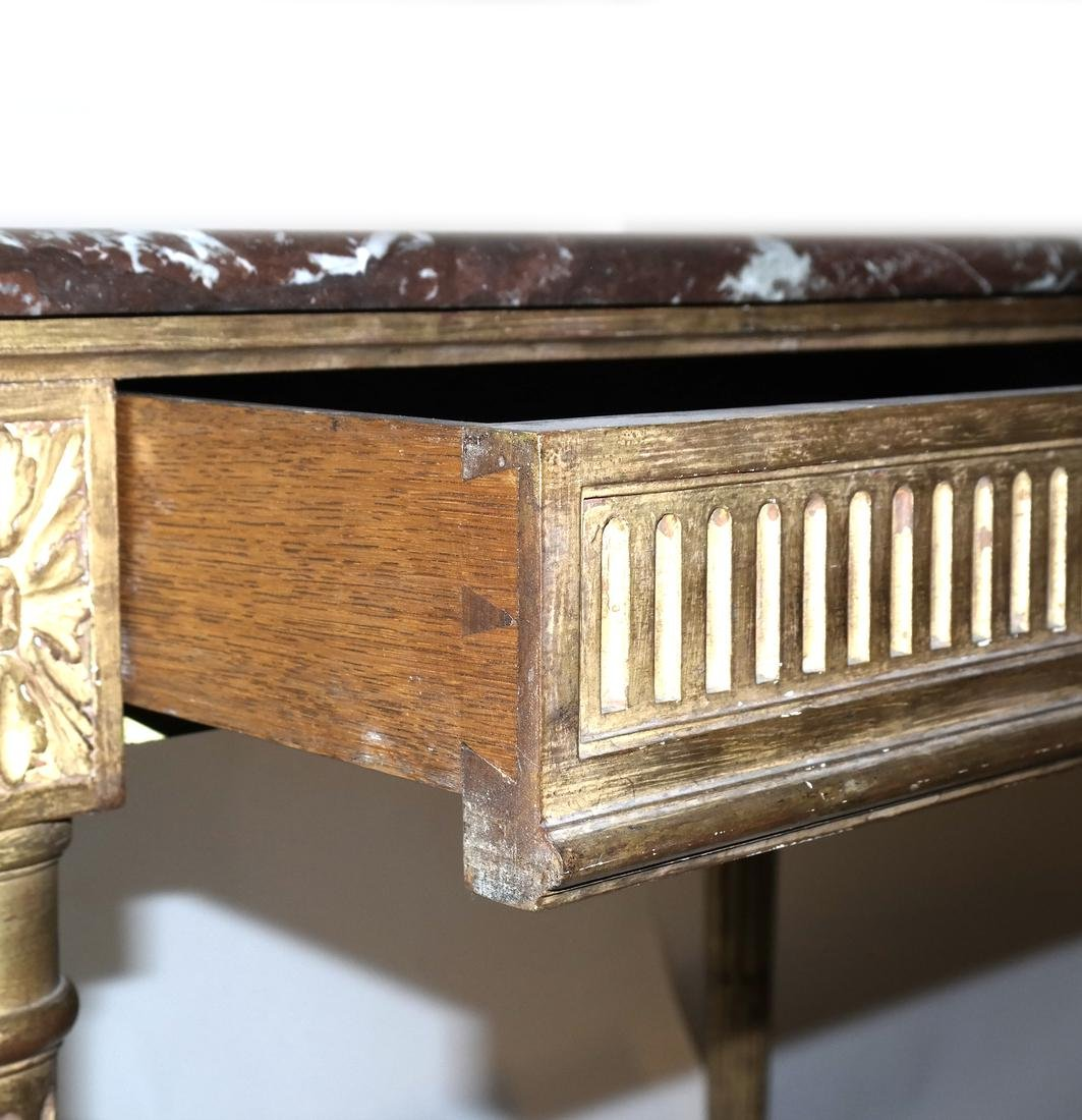 Gilt Wood Writing Desk - 4