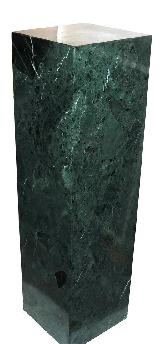 Verde Green Marble Pedestal