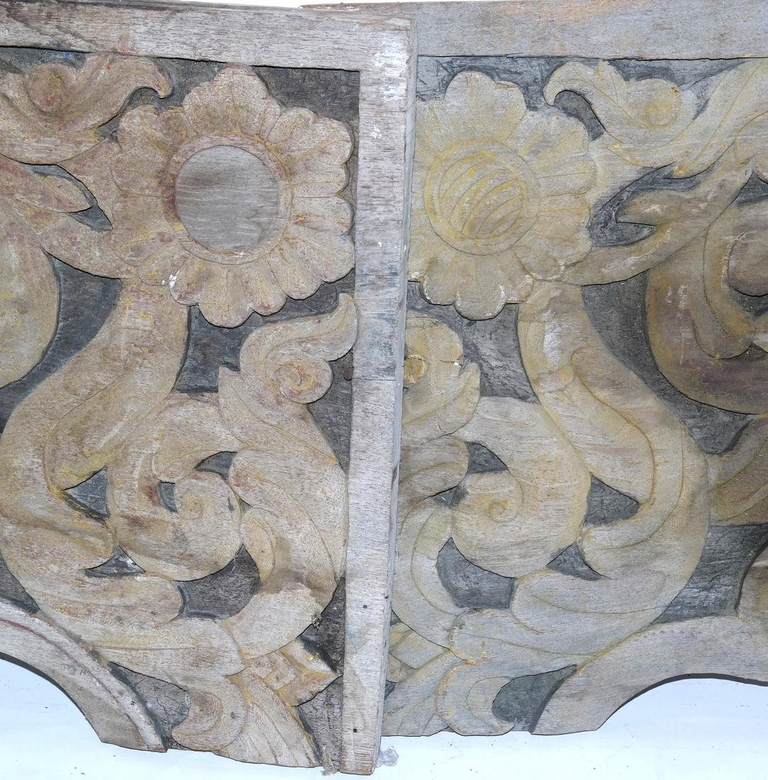 Pair Carved Antique Panels - 2