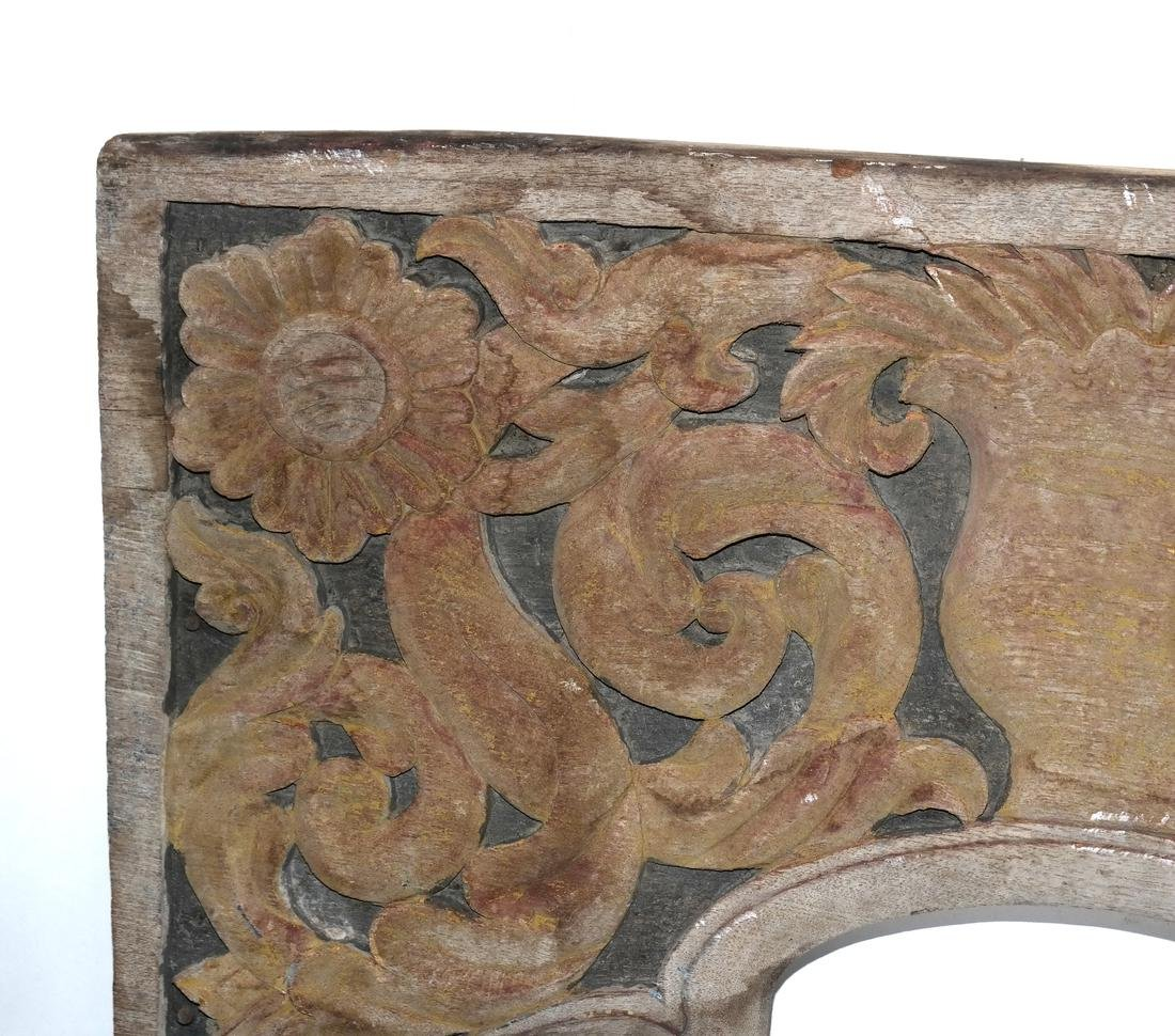 Pair Carved Antique Panels - 4