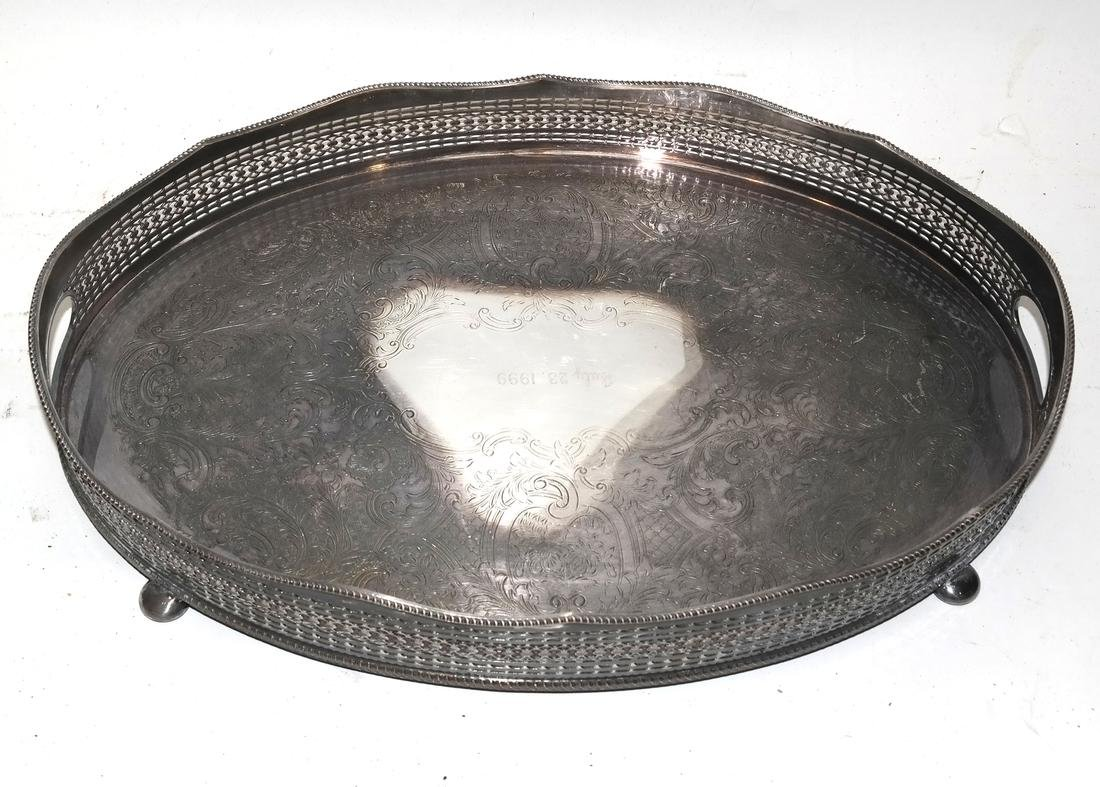 Silver Plate Pitcher, Tray, and Others - 5