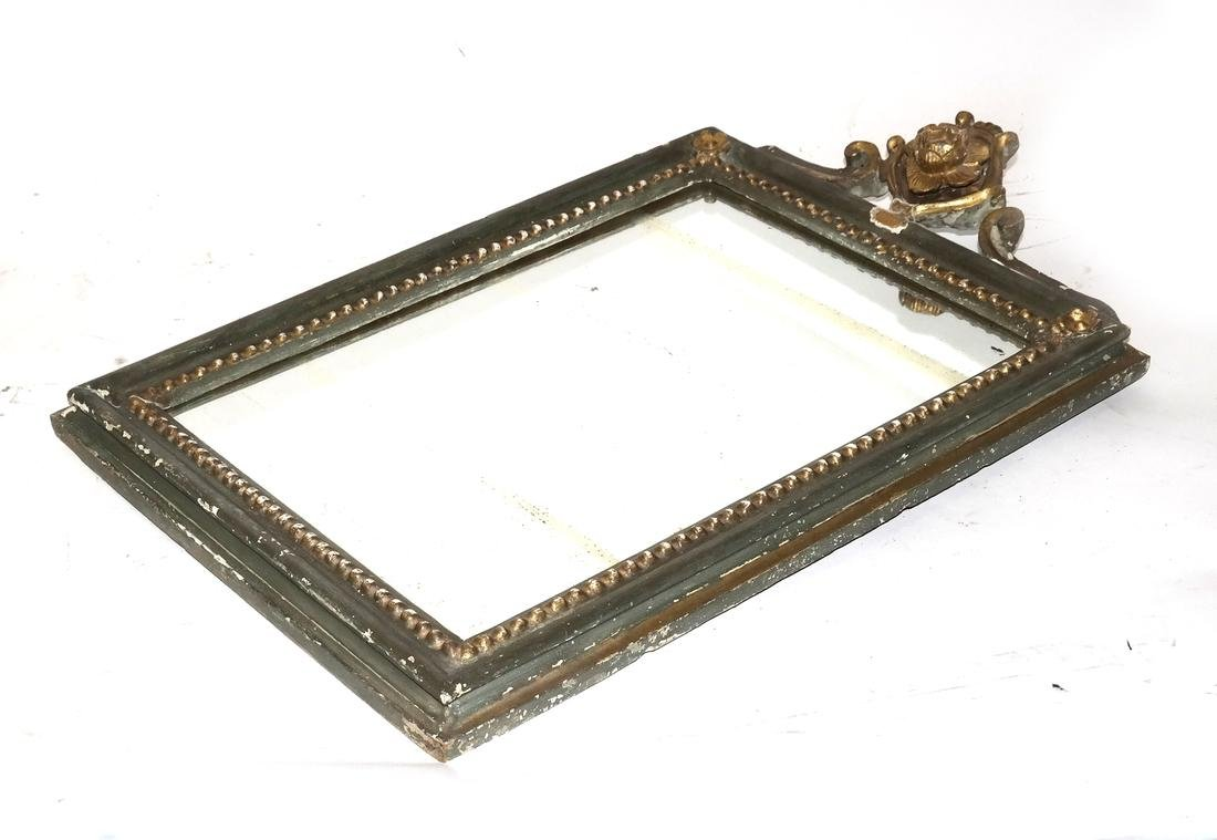 Antique Small Carved Mirror