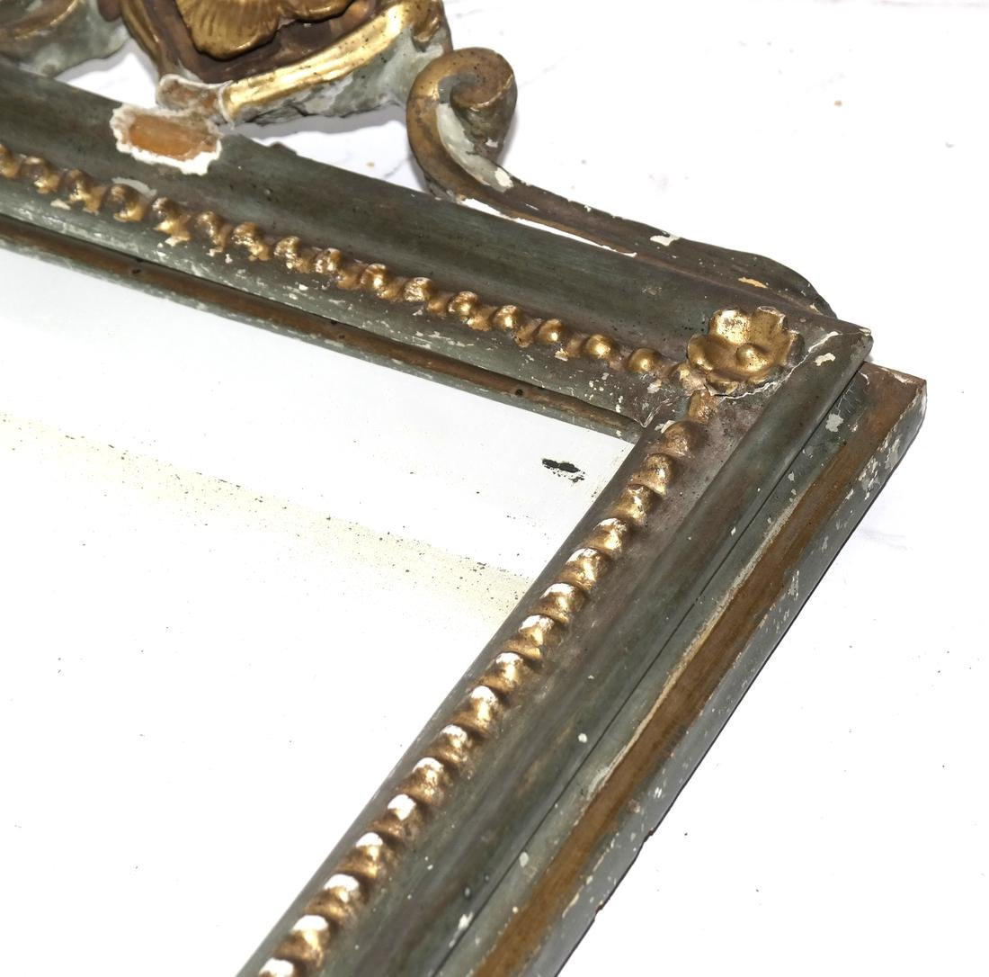 Antique Small Carved Mirror - 4