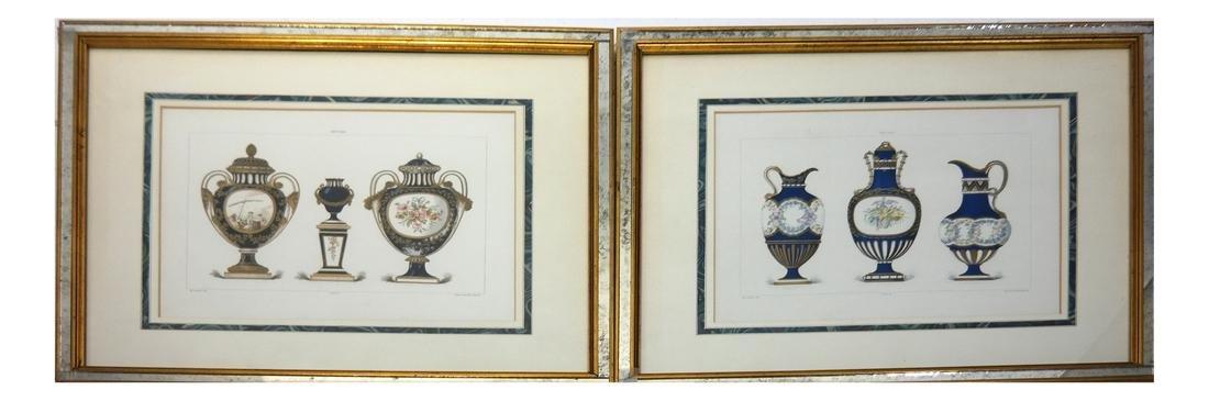 "Pair of Prints, ""Porcelain"" Garnier, Gillot"