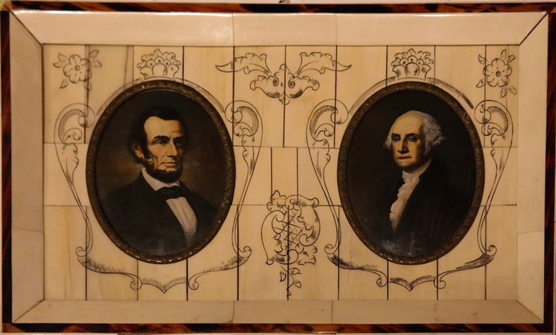 G. Washington and A. Lincoln Miniatures