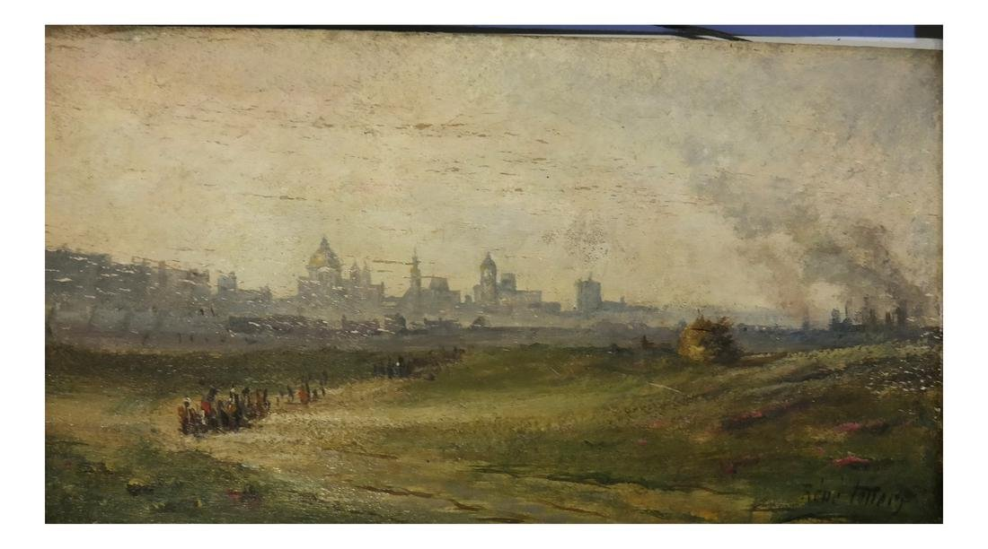 Rene Follery, Riverscape with City