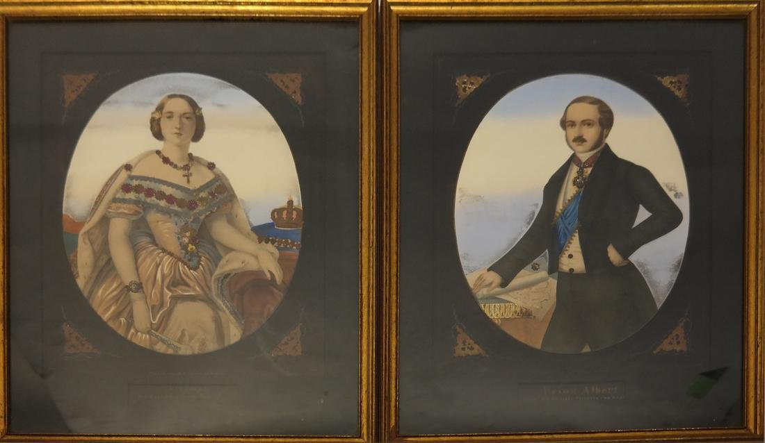 Pair of Portraits, Victoria and Albert