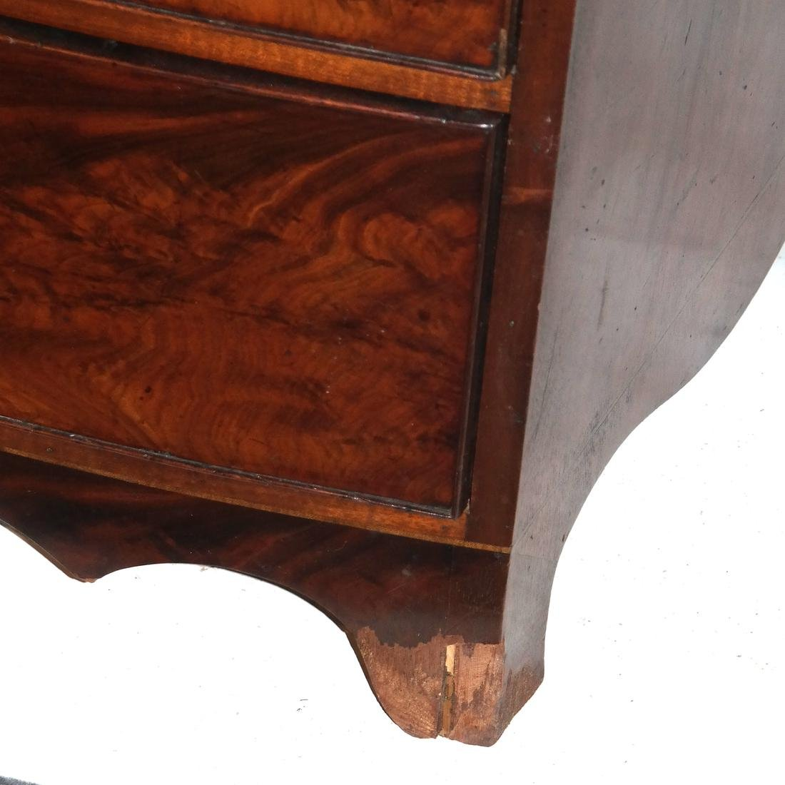 Antique English Bow Front Chest - 2