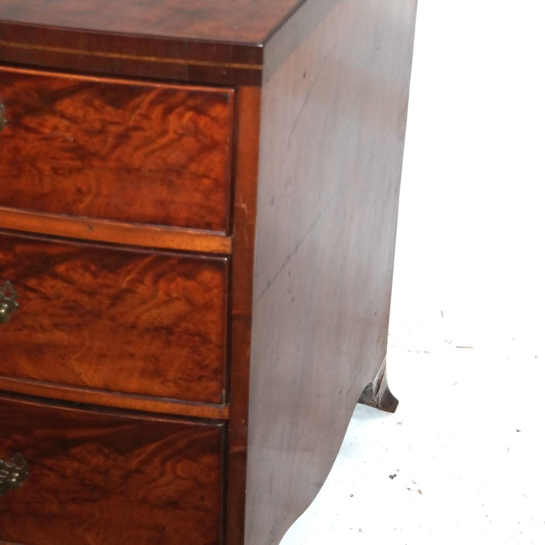 Antique English Bow Front Chest - 3