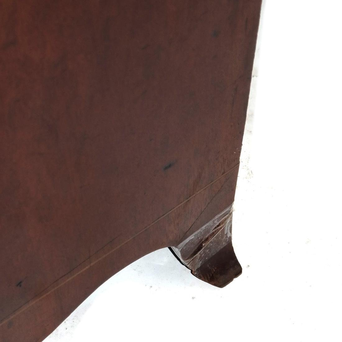 Antique English Bow Front Chest - 4