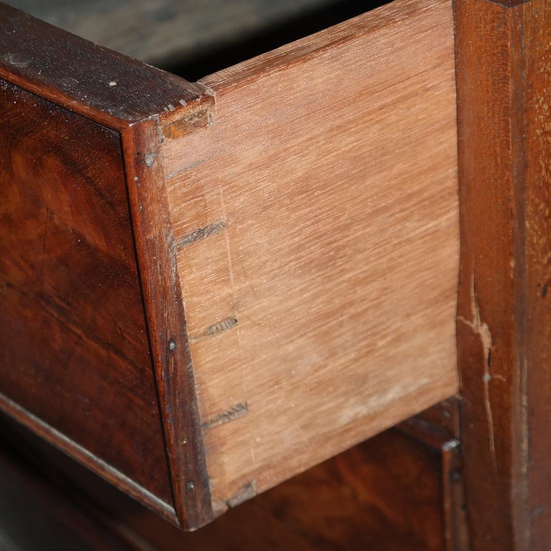 Antique English Bow Front Chest - 5