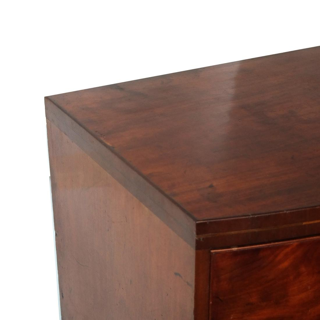 Antique English Bow Front Chest - 7