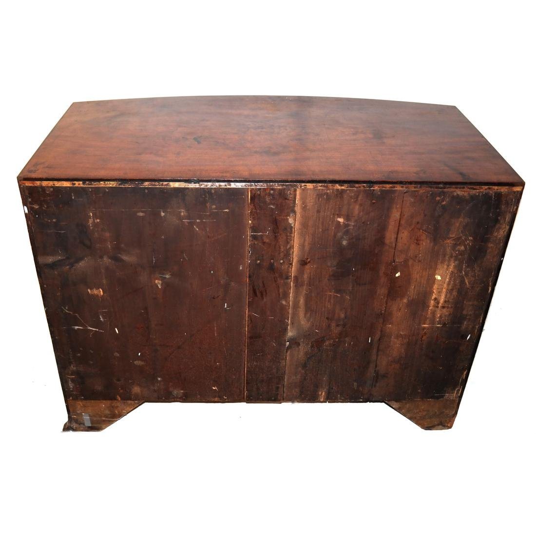 Antique English Bow Front Chest - 8